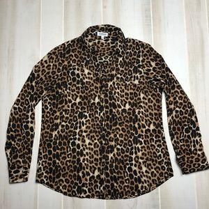 Express The Portofino Shirt Leopard Print